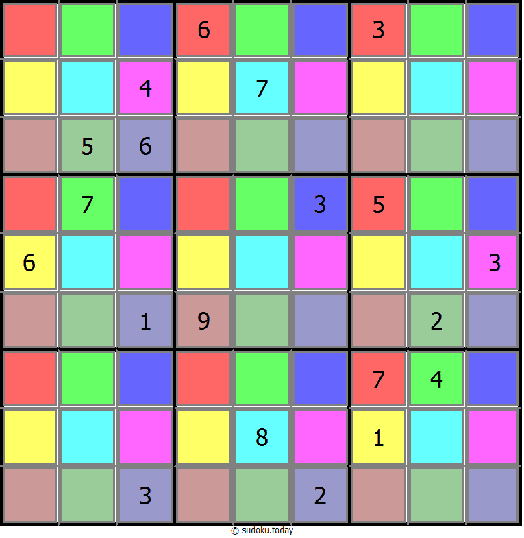 Color Sudoku 25-June-2020
